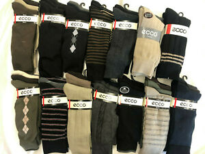 NWT Men's *LOT OF 6,12, 24 ECCO DRESS & CASUAL ASSORTED 3Pack Sock Sz:10-13