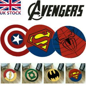 Superhero Floor Rug Room Bath Bedroom Mat Marvel Avengers Non-Slip Mats Decorate