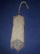 New listing Antique Alpaca Silver Metal Mesh Handbag Purse Early 1900s Unique 👀