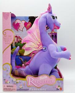 "Barbie as Rapunzel Penelope 12"" Plush Talking Dragon 2002 Mattel No. 55477 Works"
