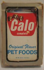 Old Pet Food Advertising Playing Cards - Calo Complete - Cans w/ Beagles -in Box
