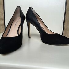 Preowned  Babana Republic Woman Pumps Platform SZ 8 Leather Suede Combo