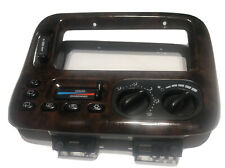 99-00 Chrysler Town & Country A/C Heat Climate Temp Control Bezel OEM Woodgrain