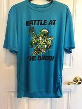 "Lacrosse T-Shirt - Mens - Medium, ""Battle At The Brook"" Light Bright Blue"