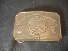 "Brass Committee Of Vigilance Of San Francisco Belt Buckle 3 1/2"" x 2 1/2"" Action"