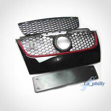 BLACK RED MESH STRIP CENTER H FRONT UPPER GRILLE GRILL FIT FOR VW JETTA MK5
