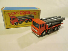 Matchbox Superfast Leyland Pipe Truck #10 England w/Original Lesney Box #2