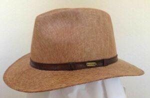STETSON SALE * NEW MEN FEDORA HAT L or XL SUN SHADY PANAMA STYLE SAFARI GOLF UPF