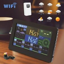 Weather Station WiFi Color Display Clock Weather Wind Forecast Indoor Outdoor