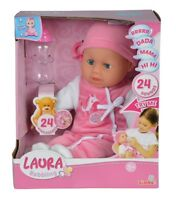 Simba 105140488 - Laura Babbling / Baby Babypuppe Mit 24 Baby Sounds 38cm - Neu