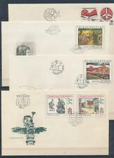 XC25642 Czechoslovakia 1984 monuments paintings art FDC's used