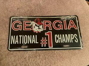 RARE GEORGIA BULLDOGS 1980 NATIONAL CHAMPIONS LICENSE PLATE TAG #1