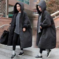 Korean Fashion Winter Coat Puffer Loose Fit Hooded Cotton Padded Women's Ske15