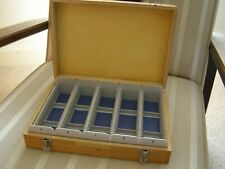 Vintage Wooden Photographic 35mm Slide Storage Case Box takes 175 slides