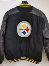 NFL Pittsburgh Steelers Leather & Wool Varsity Jacket (Medium) NEW