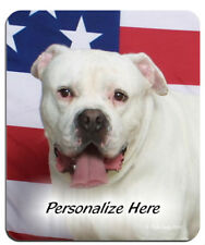 American   Bulldog  Personalized  Mouse Pad