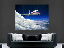 747 JUMBO JET AEROPLANE CLOUDS FLY  ART WALL LARGE IMAGE GIANT POSTER ""
