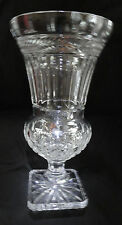 """Stunning Large 14 1/2"""" Tall Crystal Hurricane Vase or Candle Holder; Bombay Co"""