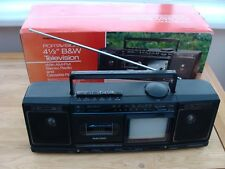 Radio Shack Portavision 4 1/2 B&W TV , AM FM Stereo Radio  Cassette Player 1996