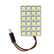 Luci pannello 24 LED smd per interni auto tettuccio luce fredda 6000K 5W 12V T10