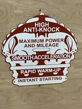New ListingRed Crown High Anti Knock Gas Oil Racing Heavy Porcelain Sign
