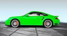 Leinwand Bild Porsche 911 S Grün Kult Bilder Klassiker Gras Kunst XXL Sport Auto