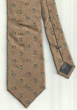 Cravatta Uomo CANALI 100% Seta Made in Italy Bronzo Paisley 9cm