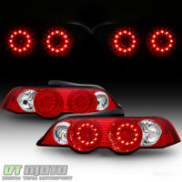 2002 2003 2004 Acura RSX DC5 Lumileds LED Red Clear Tail Lights Lamps Left+Right