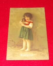 POSTCARD YOUNG GIRL BARFUSSLE ARMY POST OFFICE POSTMARK