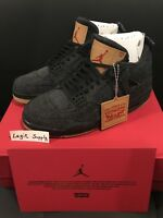 SHIP NOW Levi's Nike Air Jordan 4 IV Retro NRG 4-13 Black Denim AO2571-001