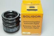 Soligor DG Extension Tube Set  12 20 36 f. Canon EF  - JAPAN -