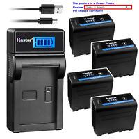 Kastar Battery LCD Charger for Atomos NP-F970 NP-F960 F950 Atomos Shogun Flame