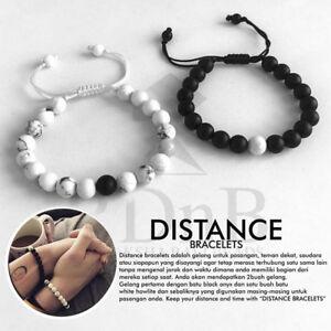 2Pcs Couples Bracelets Lovers Bracelet His & Hers Weaving Distance Bracelet Gift