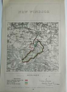 1868 FINE ANTIQUE BOUNDARY COMMISSION MAP - NEW WINDSOR, BERKSHIRE