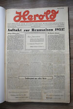 Herold Fachblatt  Pferdezucht Traber Jan-Dez 1953 Pferd Sulky Trabrennen Sport !