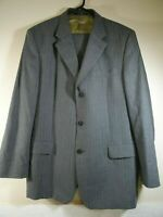 Ted Baker Endurance Wool Suit Grey with Pin Stripes Size Jacket 44 R Waist 38