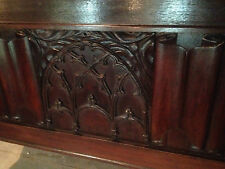 fine gothic revival georgian oak church coffer 17th century style mule chest