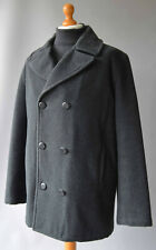 Mens Grey Henri Lloyd Wool Blend Double Breasted Peacoat with Valtherm Tech' SzL