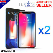 2x Apple iPhone X 8 7 6s Plus 5s GENUINE NUGLAS Tempered Glass Screen Protector