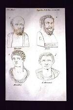 Ippocrate Lisia Messalina Incisione all'acquaforte del 1820 Mitologia Pozzoli