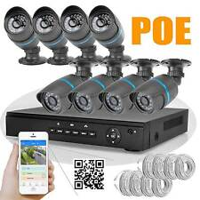 8CH Network POE NVR + 8pcs 2MP1080P HD 24LEDs IR CCTV IP Outdoor Camera SYSTEM