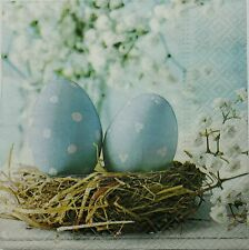 NEST WITH EGGS SPRING 2 single LUNCH SIZE  paper napkins for decoupage 3-ply