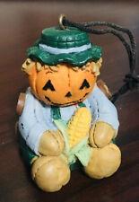 Fall Halloween Ornament Bear Pumpkin Head Scarecrow Resin Cute Solid