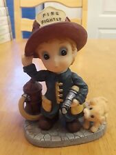 Montefiori Collection | FIREFIGHTER with PUPPY 2000 signed RT Rare
