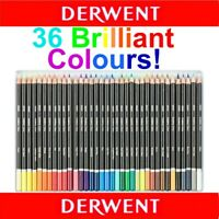 36 Colour Tin Set Derwent ACADEMY Coloured Pencils Adult Colouring Books School