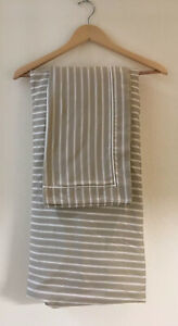 Restoration Hardware Italian Striped King Duvet Cover & Shams Cotton Sateen 3 Pc