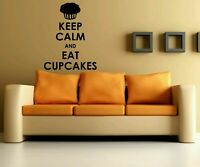 Wall Vinyl Sticker Decals Mural Bedroom Design Keep Calm And Eat Cupcakes #1198