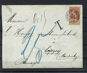 [M145503] Belgium N°57 Royalty on Cover to Leipzig 1898 COB € 5,00 UNG