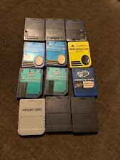 Playstation 2 Ps2 Lot Of Memory Cards 3 Official 3 Nyko 3 Madcatz 3 Generic