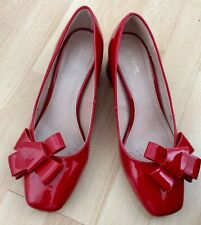 Fab Red Patent Court Shoes By NEXT - Size 6 (Eur 39) -  Worn Once  - Great Look!